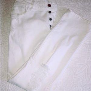 DL1961 Bella Vintage slim cropped white size 28
